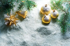 Christmas. Beautiful Christmas Scene.Selective focus stock image
