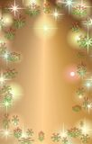 Christmas. Merry christmas background with  gold stars snow lights Royalty Free Stock Photography