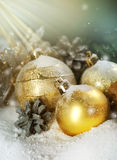 Christmas. Beautiful old-styled Christmas Scene.With copy-space royalty free stock images