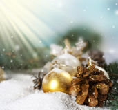 Christmas. Beautiful Christmas Scene.With copy-space stock image