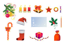 Christmas. Collection of objects associated with Stock Image