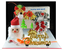 Christmas. Table top christmas decoration by children Stock Images