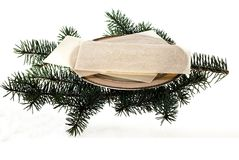 Christmas. Eve wafer when the first star will shine Royalty Free Stock Photography