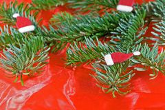 Christmas. Decoration in red and green Stock Images