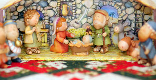 Christmas. Close up view of a nativity scene Stock Photo