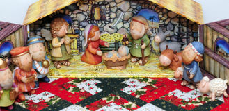 Christmas. Close up view of a nativity scene Stock Photos