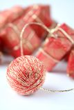 Christmas. Red and gold christmas ornament Royalty Free Stock Photos