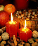 Christmas. Still life with nuts Stock Photography