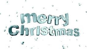 Christmas. Merry christmas wording form by ais surrounded by water droplet Stock Photos