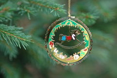 Christmas. Decoration hanging from a branch Stock Photography