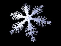 Christmas. 3D-modelled snowflake representing the notion of festive season Royalty Free Stock Photos
