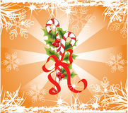 Christmas. Theme. Illustration of mistletoe. Can be used as a background Stock Image