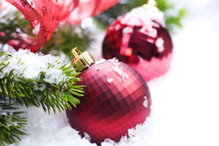 Christmas. Decoration close-up.Selective focus.With copy-space Royalty Free Stock Photos