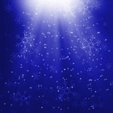 Christmas. Blue background with snowflakes vector illustration