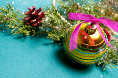 Christmas. Decoration with space for your text Stock Photos