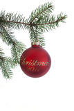 Christmas 2011 ornament Royalty Free Stock Photography