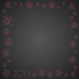 Christmas 2013 inscription. With white patterns on a red back Royalty Free Stock Photos