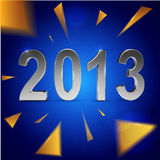 Christmas and 2013 New Year background Royalty Free Stock Images