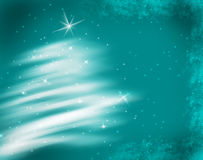 Christmas. Frosty abstract Christmas background. Tree illustration royalty free illustration