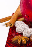 Christmas. Sy mood with gingerbread and  decoration Stock Images