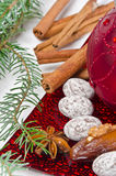 Christmas. Sy mood with gingerbread and  decoration Stock Image