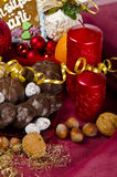 Christmas. Sy mood with gingerbread and  decoration Royalty Free Stock Photos