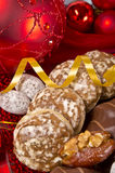 Christmas. Sy mood with gingerbread and  decoration Royalty Free Stock Image