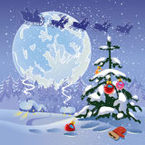 Christmas. Landscape. The miracle that occurs in the night Stock Images
