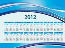 Christmas. Blue calendar for 2012. Christmas Royalty Free Stock Photo