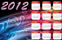 Christmas. Multi-colored calendar for 2012 royalty free illustration
