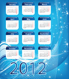 Christmas. Blue calendar for 2012. Christmas Royalty Free Stock Photos