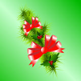 Christmas. Background with decorated branches of  tree Stock Image