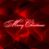 Christmas. On red abstract background Stock Photos