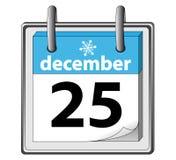 Christmas 25 December. Calendar icon - Christmas. 25 December Stock Photo