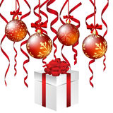 Christmas. And New Year background. Vector illustration. EPS 10 with transparency Royalty Free Stock Images