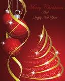 Christmas. Beautiful Christmas (New Year) card. Vector illustration stock illustration