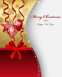 Christmas. Beautiful Christmas (New Year) card. Vector illustration with transparency EPS10 royalty free illustration