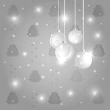 Christmas. Balls on gray background. eps 10 Stock Image
