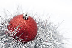 Christmas. Ball and decoration on white background Royalty Free Stock Photography