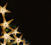 Christmas. Background- glowing stars border royalty free stock images