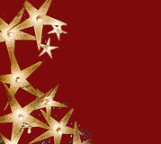 Christmas. Background- glowing stars border Royalty Free Stock Photo