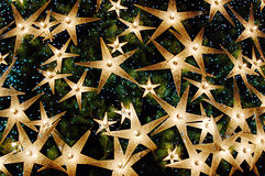 Christmas. Background of bright stars royalty free stock image