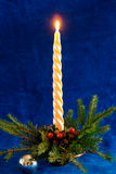 Christmas-3. Holiday decoration, Candle in decorative Christmas tree Stock Image