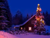 Christmas. Eve in winter on mountains Stock Photography