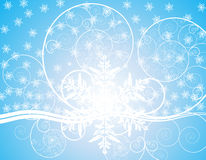 Christmas. Geometric figures  christmas card vector illustration with snowflakes Royalty Free Stock Photo