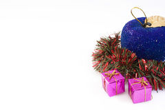 Christmas. Adornment of Christmas and gifts Stock Images