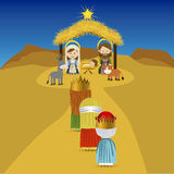 Christmas. Design over sky background vector illustration Royalty Free Stock Photography
