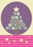 Christmas. A illustration of a christmas tree royalty free illustration