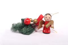 Christmas. A christmas arrangement with a small angel Royalty Free Stock Photography