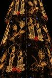Christmas. A very tall Christmas Tree Stock Photos